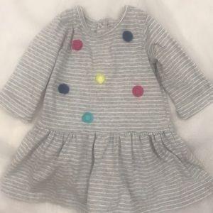 Carter's grey/white striped dress Size 18 …